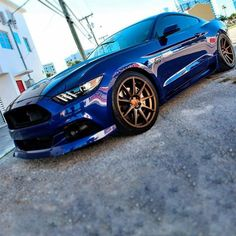 Steve G from UPR 2015 Mustang GT on a set of Velgen Wheels.