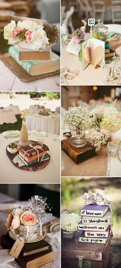 genius vintage book wedding decorations ideas