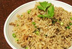 Mushroom And Lavender Rice Pilaf Vegan) Recipe -1 tablespoon dried culinary lavender, 2 teaspoons mustard seeds,  1/2 teaspoon fennel seed, 2 tablespoons olive oil (I tested 1 tablespoon olive oil and 1 tablespoon coconut oil), 1/4 lb mushroom/diced small, 1 cup jasmine or basmati rice, 1/2 cup shallot/peeled and diced, 1/4 lb mushroom/diced small, 1/2 teaspoon sea salt, 1/4 teaspoon cracked pepper, 2 cups vegetables broth, 1/2 cup green onion, cilantro garnish