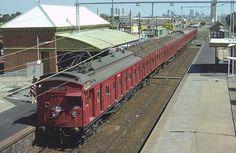 Tait or red rattler Melbourne Melbourne Victoria, Victoria Australia, Old Pictures, Old Photos, Electric Train Sets, Brisbane, Melbourne Australia, Tasmania, My Ride