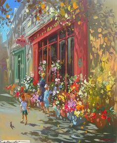 Художникът Лоран Парселие (Laurent Parcelier) е роден през 1962 г. във Франция. Пъстрите му платна са изпълнени с много настроение и светлина, сякаш хиляди слънчеви зайчета се гонят с цветните усмивки в картините.