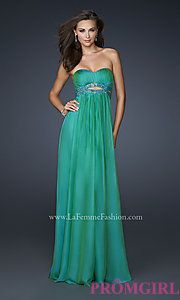 Buy Strapless La Femme Prom Dress at PromGirl