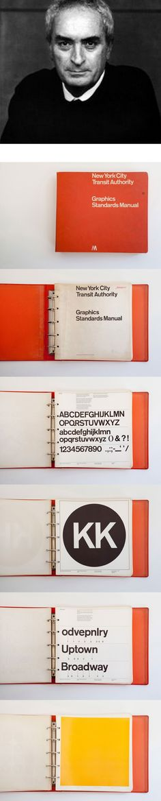 First edition NYCTA Graphics Standards Manual designed by Massimo Vignelli and Bob Noorda of Unimark International (1970)