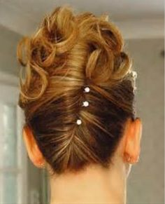 A cool but very pretty hair style