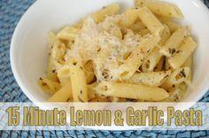 15 Minute Lemon & Garlic Pasta