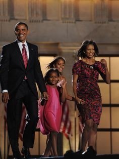 #44thPresident #BarackObama & #FirstLady #MichelleObama and their #daughters #MaliaObama & #SashaObama August 8, 2008 Democratic National Convention: Day 4 #ObamaFamily #ObamaLegacy #ObamaHistory #ObamaLibrary #ObamaFoundation Obama.org