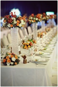 Table Arrangements For Wedding Receptions Yellow Summer | visit www.lovelyweddingideas.com