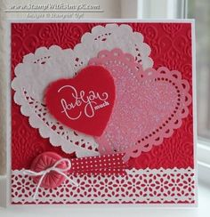 Best of Love CAS Valentine by amyk3868 - Cards and Paper Crafts at Splitcoaststampers