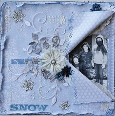 Snow~Scraps Of Darkness~ - created by Jennythomas101 with our A Long December kit