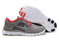 discount sale d0ee3 6fb86 Free Run +3 Mens Grey Varsity Red Nike Running, Nike Free Runs, Running