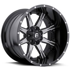"""FUEL Off-Road D252 """"Nutz"""" 2-Piece Alloy Wheel in Black & Machined with Dark Tint for 07-16 Jeep Wrangler JK & JK Unlimited"""
