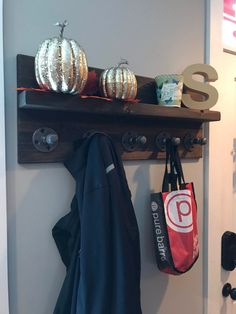 Industrial Pipe Coat Rack with Shelf
