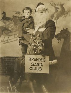 Brandeis Santa Claus...photo card...