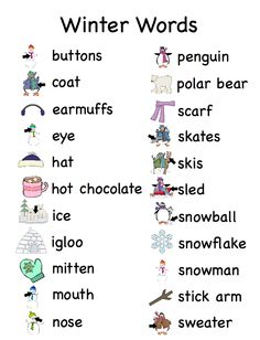 English Vocabulary - All About winter