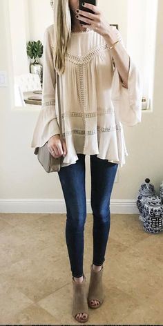 Love the bell sleeve and details but not so much the color.