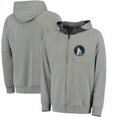 Minnesota Timberwolves adidas 2016 Pre-Game Full-Zip Hooded Jacket - Gray - $50.99