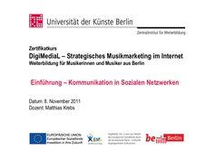 Einführung - Kommunikation in Sozialen Netzwerken