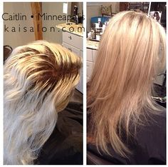 Amazing transformation. #blonde #blondehair #colorcorrection #aveda #avedacolor #kaisalonmn #northloop #nolo #themoment