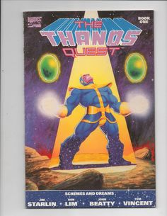 THE THANOS QUEST #1 1ST PRINT Marvel Comics TPB Jim Starlin 1990 FN/VF