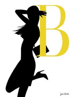 Silueta del alfabeto B