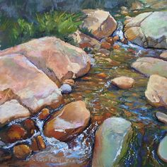 Magic Waters by Brian Sauerland Pastel ~ x Pastel Landscape, Watercolor Landscape, Landscape Art, Landscape Paintings, Watercolor Paintings, Landscapes, Watercolour, Art Pastel, Let's Make Art