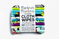 Reusable Cloth Wipes (12pk): Prints