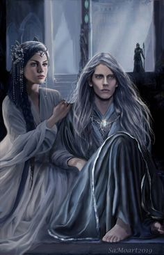 Thingol and Melian by SaMo-art on DeviantArt Tolkien, Character Inspiration, Character Art, Arte Assassins Creed, Arte Game Of Thrones, Hugo Weaving, Fantasy Couples, Fantasy Male, Sarada Uchiha