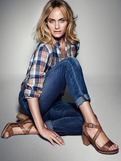 Amber Valletta for the new Spring/Summer 14 Shoes campaign Marc O'Polo #followyournature #casual #shoes #women