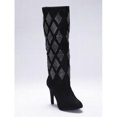 265e1b349c1 SALE - Colin Stuart Diamond Over The Knee Boots Womens Black Suede - Was   178.00 -. Victoria Secret ...
