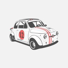 Classic Fiat 500 Abarth by Marc Carreras Fiat 500, Fiat Abarth, Auto Illustration, Automobile, Car Posters, Car Drawings, Car Painting, Automotive Design, Volkswagen