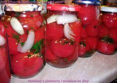 Mama i Pomocnicy: Pomidory z pietruszką i czosniem na zimę