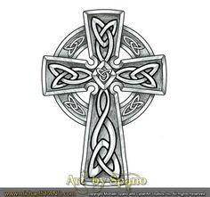 Sketches and B&W Artwork - Art by Spano Celtic Cross Tattoo For Men, Cross Tattoos For Women, Celtic Art, Celtic Crosses, Irish Tattoos, Celtic Tattoos, Thai Tattoo, Maori Tattoos, Viking Tattoos