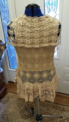 Tea Stained Upcycled Top