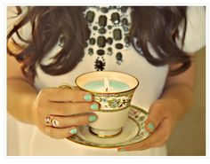 candles for tea cups