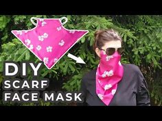 Wearing a mask makes it a bit difficult to sport some accessories like scarfs, which can be a bit bothersome. Even so, you definitely shouldn't avoid using a Sewing Patterns Free, Free Sewing, Sewing Tutorials, Free Pattern, Pocket Pattern, Sewing Hacks, Sewing Crafts, Easy Face Masks, Diy Face Mask