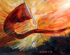 prophetic paintings   Perfect Love Casts Out Fear - Prophetic Art Painting