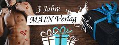"""Hallo Ihr Lieben,  wir möchten Euch ganz herzlich zur Geburtstagsaktion des Main Verlags begrüßen. Der Main Verlag wird morgen 3 Jahre alt und dies möchten wir mit Euch ordentlich feiern.   Bei Claudia könnt Ihr heute den Verlag, das Verlagsteam und die Autoren kennen lernen. http://buecherjunky.de/geburtstagsblogtour-der-main-verlag/  Stefanie verrät uns heute einiges zum Thema """"Lesbian und Trans"""". http://tausend-leben.blogspot.de/2016/12/blogtour-geburtstag-main-verlag.html"""
