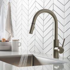 Kitchen Handles, Kitchen Sink, Kitchen Island, Bar Faucets, Modern Kitchen Design, Modern Design, Commercial Kitchen, Mixer Taps, Simple Elegance