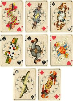 Playing cards, Card tags and Wonderland on Pinterest