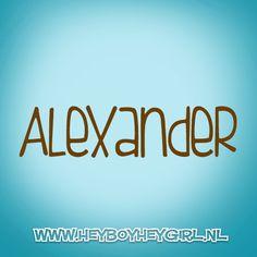 Alexander (Voor meer inspiratie, en unieke geboortekaartjes kijk op www.heyboyheygirl.nl)