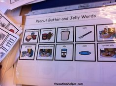 Review vocabulary before cooking activities by theautismhelper.com