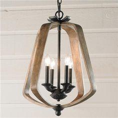 Kitchen Small Bent Wood Lantern