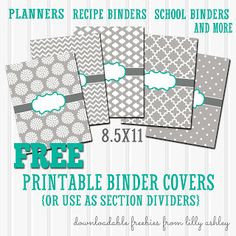 Free Binder Cover Printables Set Of 5 With Printable Spine Sheet Chevron Covers