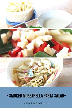 If you've ever tried the Smoked Mozzarella Pasta Salad from Wholefoods, you'll understand my love for this pasta salad. It was love at first bite! Penne Pasta, Pasta Salad, Mozzarella Pasta, First Bite, Cayenne Peppers, Roasted Red Peppers, How To Cook Pasta, Food Inspiration, Whole Food Recipes