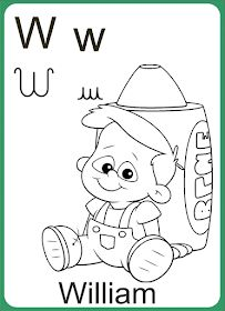 Alfabeto-letra-cursiva-w letra W  #Alfabeto #Letras #cursivas #imprimir  #educacao #infantil #alfabetização #criança