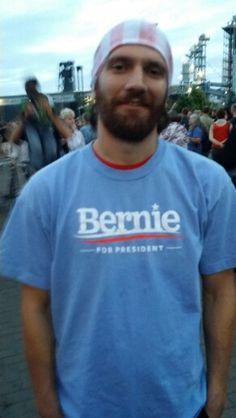 At the Bernie RALLY in Portlandia