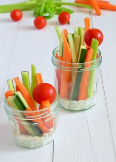 Healthy party snacks. This is what my mother always serves on our birthday!! Great colours!