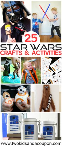 Looking for the perfect Star Wars craft ideas for your little movie fans? Here are some of our favorites! Cute Kids Crafts, Crafts For Kids To Make, Craft Stick Crafts, Craft Ideas, Creative Crafts, Craft Tutorials, Fun Activities For Kids, Craft Activities, Activity Ideas