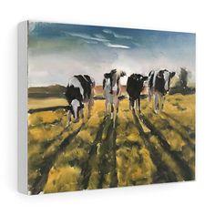 Cow Painting, Cow Art, Cow PRINT - Cow Oil Painting, Holstein Cow, Farm Animal Art, Farmhouse Art, Prints of Farm Animals, Farm Wall Art by JamesCoatesFineArt2 on Etsy Holstein Cows, Cow Painting, Cow Art, Farm Animals, Wrapped Canvas, Original Paintings, Farmhouse, Horses, Oil