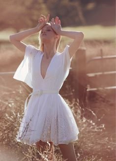 visual optimism; fashion editorials, shows, campaigns & more!: white lace: jennifer pugh by marc philbert for grazia germany april 2015